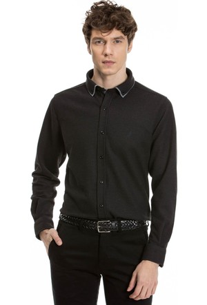 Nautica Erkek Siyah Gömlek K73011T.0TB