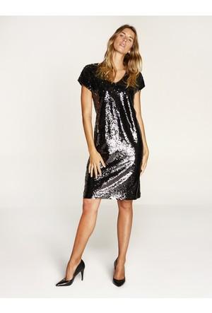 Faik Sönmez Elbise Siyah 35089