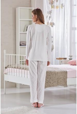 Sevim Nakışlı Lohusa Pijama Takımı 10611