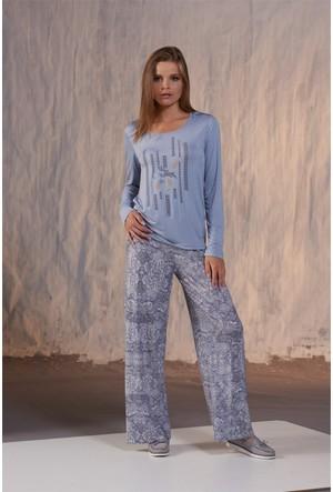 Gizzey Taş Baskılı Bayan Pantolon Takım 20122