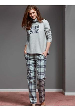 Catherine'S 1109 Kışlık Bayan Pijama Takımı