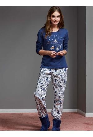 Catherine'S 1124 Kışlık Bayan Pijama Takımı