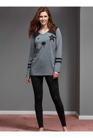 Catherine'S 1156 Kışlık Bayan Pijama Takımı