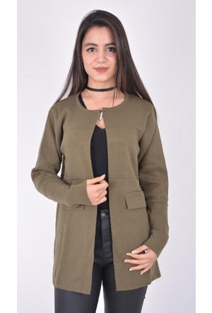 Burucline Kadın Triko Ceket Vizon 17-2B287012