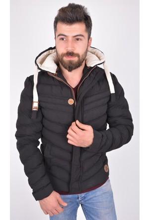Burucline Erkek Şişme Mont Siyah 17-2E668004