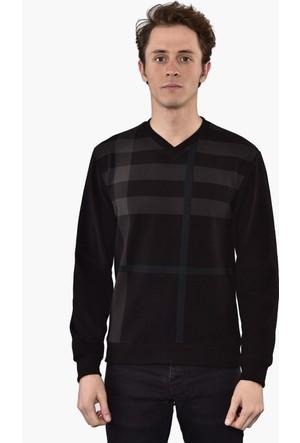 Westside V Yaka Selanik Sweatshirt 18K6006 Siyah