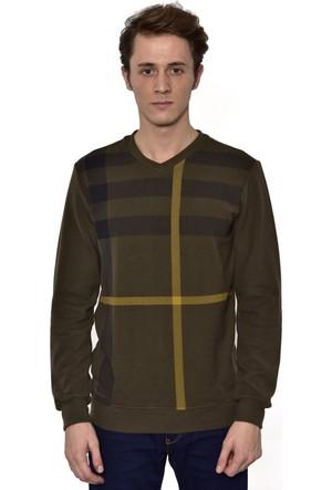 Westside V Yaka Selanik Sweatshirt 18K6006 Haki
