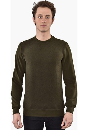 Westside Şal Desenli Selanik Sweatshirt 6010 Haki