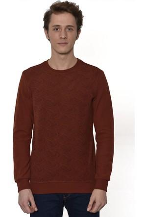 Westside Şal Desenli Selanik Sweatshirt 6010 Kiremit
