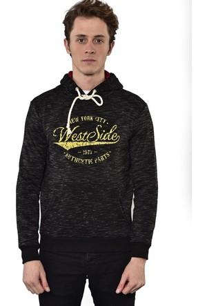 Westside Üçiplik Kapüşonlu Sweatshirt 18K6508 Siyah