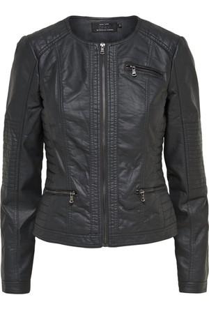 Only 15118428 Jacket Fem Wov Pu50/Vı50 Leather Jacket Kadın Mont