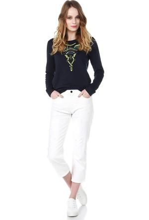 Armani Jeans Kadın Sweatshirt Mavi V5M20 PF