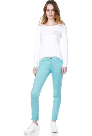 Armani Jeans Kadın Sweatshirt Beyaz B5H39 UQ