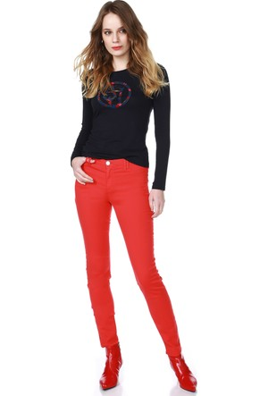 Armani Jeans Kadın Pantolon Kırmızı A5J28 HJ