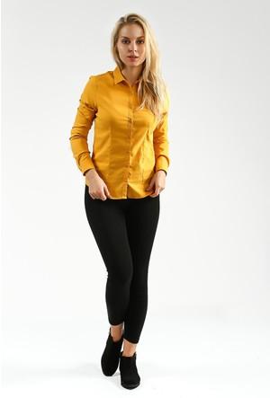 Collezione Kadın Gömlek Uzun Kol Masskk Hardal
