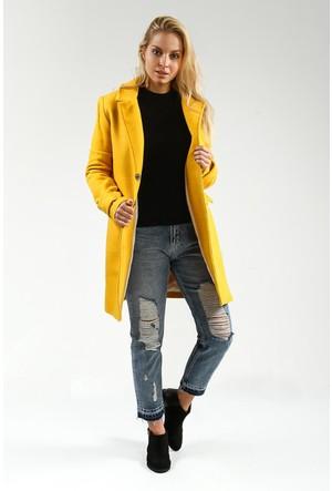 Collezione Kadın Kaban Kaliver Sarı