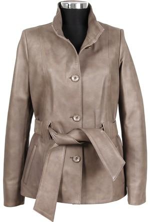 Gön Deri Kadın Ceket Vizon D3550