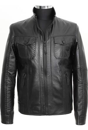 Gön Deri Erkek Ceket Siyah D4553