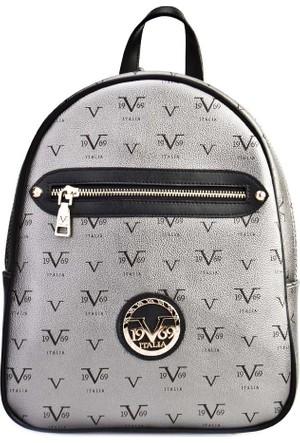 Versace1969 Aksesuar Kadın Çanta Gri Deri