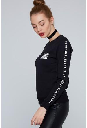 FullaModa Baskılı Sweatshirt 18KSPR0008