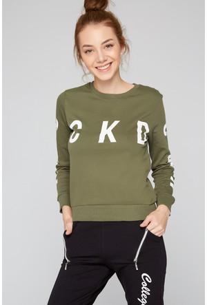 FullaModa Baskılı Sweatshirt 18KSPR0010