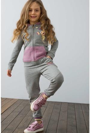 U.S. Polo Assn. Kız Çocuk Sophia Eşofman Gri