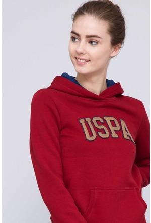 U.S. Polo Assn. Kadın Gizmo-Sk07 Sweatshirt Kırmızı