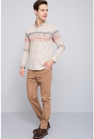 U.S. Polo Assn. Erkek Michael7S Pantolon Krem Rengi