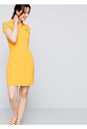 U.S. Polo Assn. Kadın Mts02İy07-075 Elbise Sarı