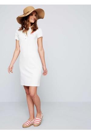 U.S. Polo Assn. Kadın Mts02İy07-075 Elbise Beyaz