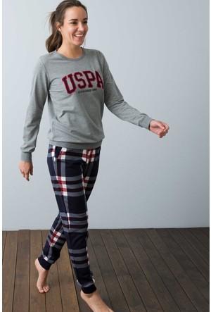 U.S. Polo Assn. Kadın 15914 Pijama Gri