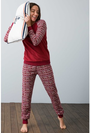U.S. Polo Assn. Kadın 15918 Pijama Kırmızı
