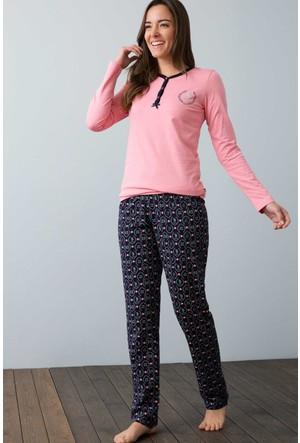U.S. Polo Assn. Kadın 15920 Pijama Pembe