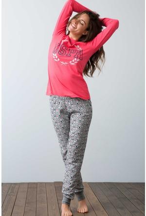 U.S. Polo Assn. Kadın 15921 Pijama Mavi