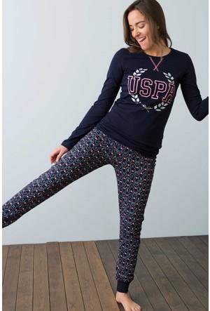 U.S. Polo Assn. Kadın 15921 Pijama Lacivert