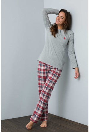 U.S. Polo Assn. Kadın 15926Y Pijama Gri