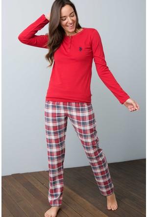 U.S. Polo Assn. Kadın 15926Y Pijama Kırmızı
