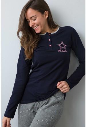 U.S. Polo Assn. Kadın 15935P Pijama Lacivert