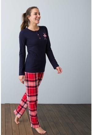U.S. Polo Assn. Kadın 15949P Pijama Lacivert