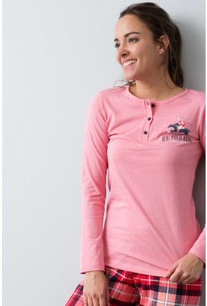 U.S. Polo Assn. Kadın 15949P Pijama Pembe