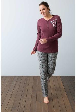U.S. Polo Assn. Kadın 15950P Pijama Kırmızı
