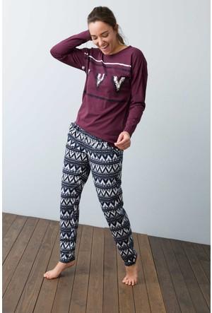 U.S. Polo Assn. Kadın 15958P Pijama Pembe