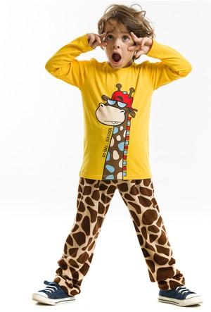 Denokids Cool Zürafa Velvet Takım