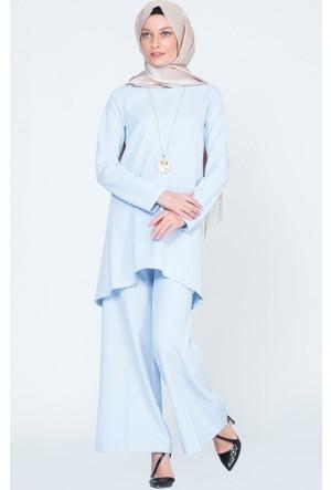 Benguen Düz Tunik Pantolon Takım 9007 Açık Mavi