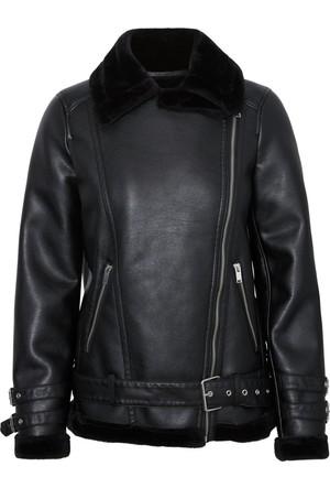 Vero Moda Bayan Deri Ceket Siyah 10181005