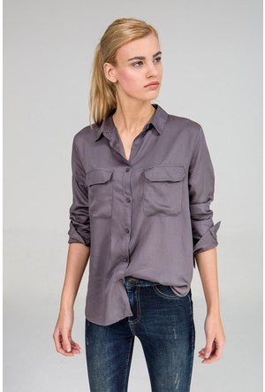 LTB Kadın Midodo Gömlek Füme