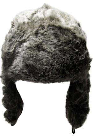 Laslusa Gri Siyah Benekli Pilot Şapka