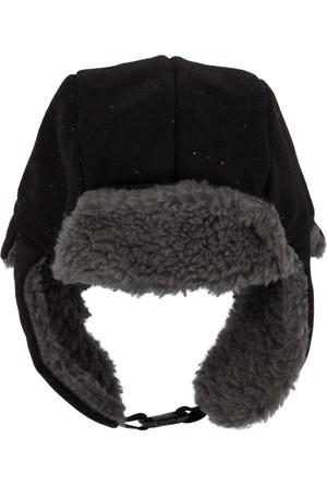 DeFacto Erkek Kulaklıklı Kışlık Şapka Siyah