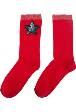 DeFacto Kadın Trend Çorap Kırmızı