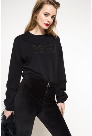 DeFacto Kadın Baskılı Sweatshirt Lacivert
